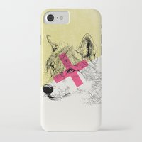 techno iPhone & iPod Cases featuring Techno Wolf by Zeke Tucker