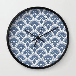 Fan Pattern 331 Monaco Blue Wall Clock