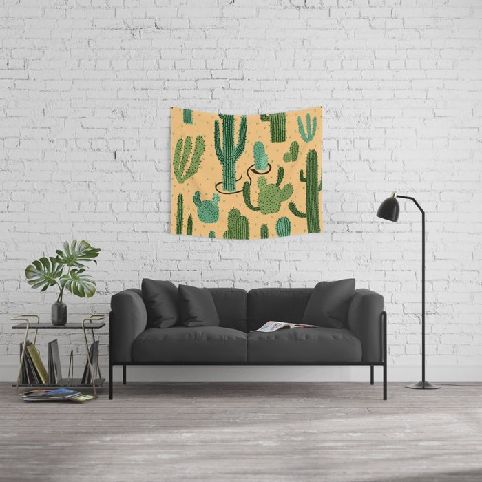 The Snake, The Cactus and The Desert Wall Tapestry