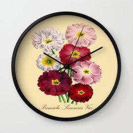 Vintage Primrose Print Wall Clock