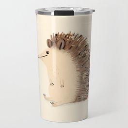 Happy Hedgehog Sketch Travel Mug