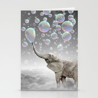 helen Stationery Cards featuring The Simple Things Are the Most Extraordinary (Elephant-Size Dreams) by soaring anchor designs