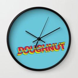 Doughnut cut out design Wall Clock