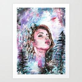 The cold breath Art Print