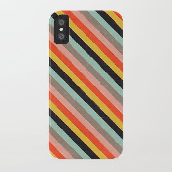 diagonal stripes - Autumn iPhone Case