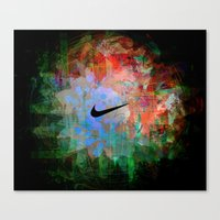nike Canvas Prints featuring Nike Explosion by Tom Ralston