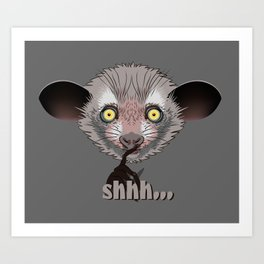 Aye-Aye Lemur Art Print