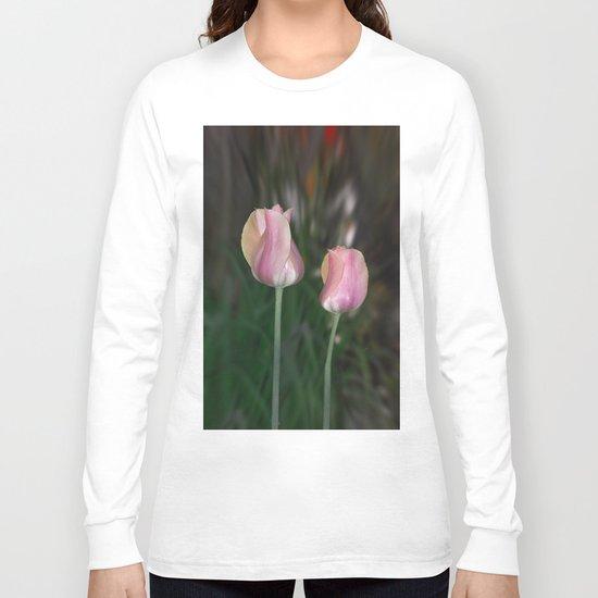 Twin Tulips Long Sleeve T-shirt