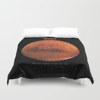 bruno mars Duvet Covers featuring Mars by Terry Fan
