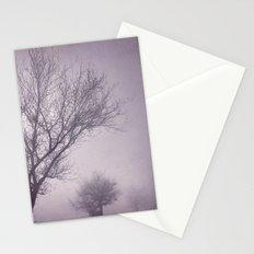 Three trees under the rain. Retro Stationery Cards