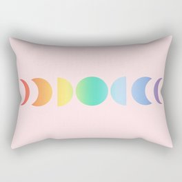 Not a Phase Moon Rainbow Rectangular Pillow