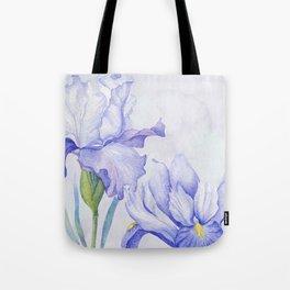 Watercolor Iris Tote Bag