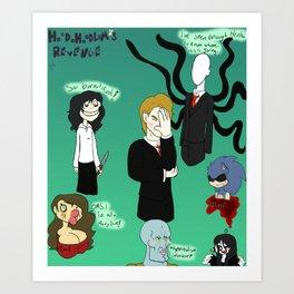 Bad Creepypasta Art Print
