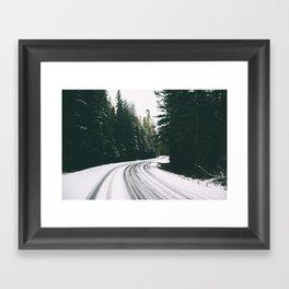 Winter Drive III Framed Art Print