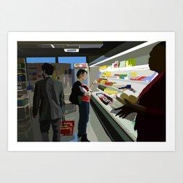 People of the Economat Art Print
