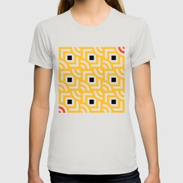Round Pegs Square Pegs Yellow T-shirt