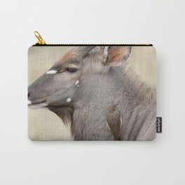 Nyala with Oxpecker Carry-All Pouch