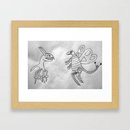 2 creatures Framed Art Print