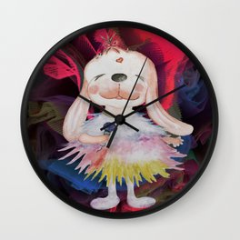 MC Lucky Bunny (neon) Wall Clock