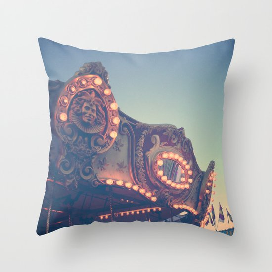 Twilight Carnival Ride Throw Pillow