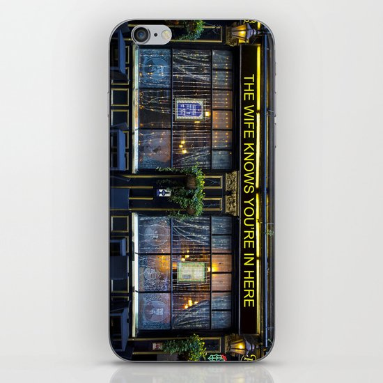 The wife knows....... pub iPhone & iPod Skin