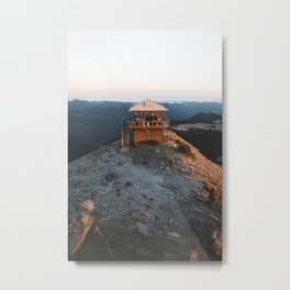 Fire Lookout in the Mountains Metal Print