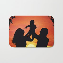 happy family Bath Mat