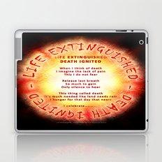 LIFE EXTINGUISHED - DEATH IGNITED - 060 Laptop & iPad Skin