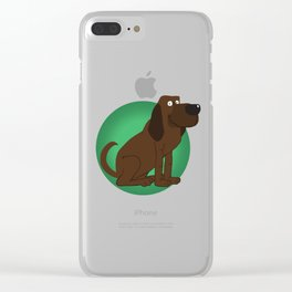 Bloodhound Illustration Clear iPhone Case