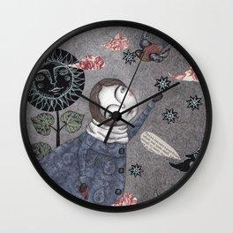 Snow Stars White, Snow Stars Bright Wall Clock