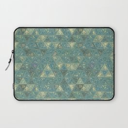 Blue and Beige Triangles Laptop Sleeve