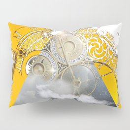 Abstract Collage City Clocks Pillow Sham