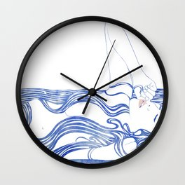 Water Nymph XXXIV Wall Clock