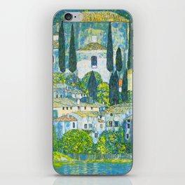 """Gustav Klimt """"Church in Cassone"""" iPhone Skin"""