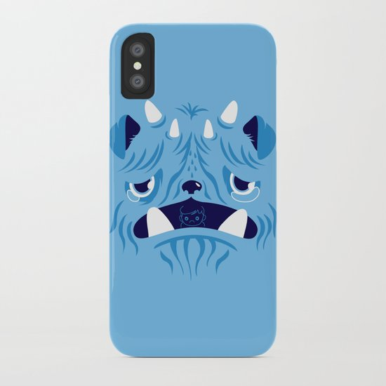 The Bluest Monster Ever :(( iPhone Case