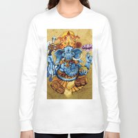 ganesh Long Sleeve T-shirts featuring Ganesh by RICHMOND ART STUDIO