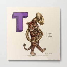 Animals & Instruments ABCs – T Metal Print