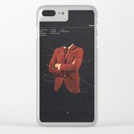 Manhood Clear iPhone Case
