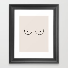 Boobs Framed Art Print