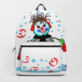 Snow Lady 1, Christmas and Holiday Fantasy Collection Backpack