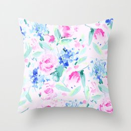 Scattered Lovers Pink Throw Pillow