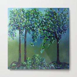 Texture Trees Metal Print