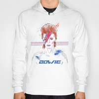 bowie Hoodies featuring Bowie by Usagi Por Moi