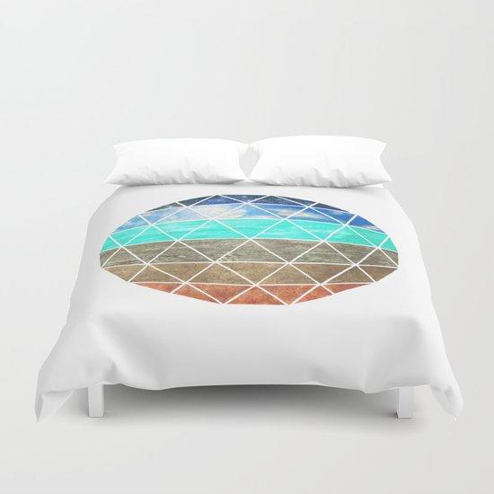 Elemental Geodesic  Duvet Cover
