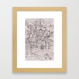 Greenwich London (Musky) Framed Art Print