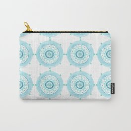 Blue Watercolor Medallions Carry-All Pouch