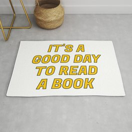It's a Good Day to Read a Book yellow Rug