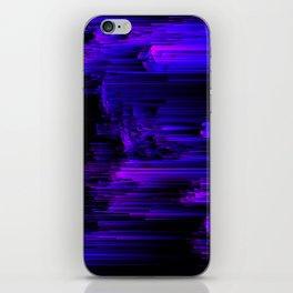 Ultraviolet Light Speed - Abstract Glitch Pixel Art iPhone Skin