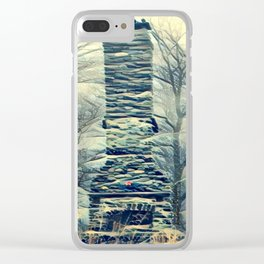 Fireplace Clear iPhone Case