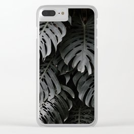 split leaf philodendron Clear iPhone Case